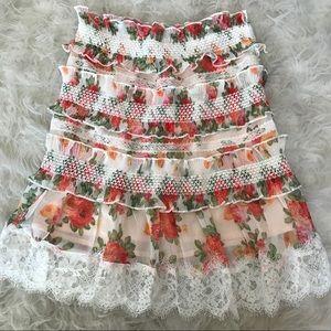 Dresses & Skirts - High waisted floral skirt